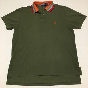 Vintage polo ralph lauren striped polo shirt